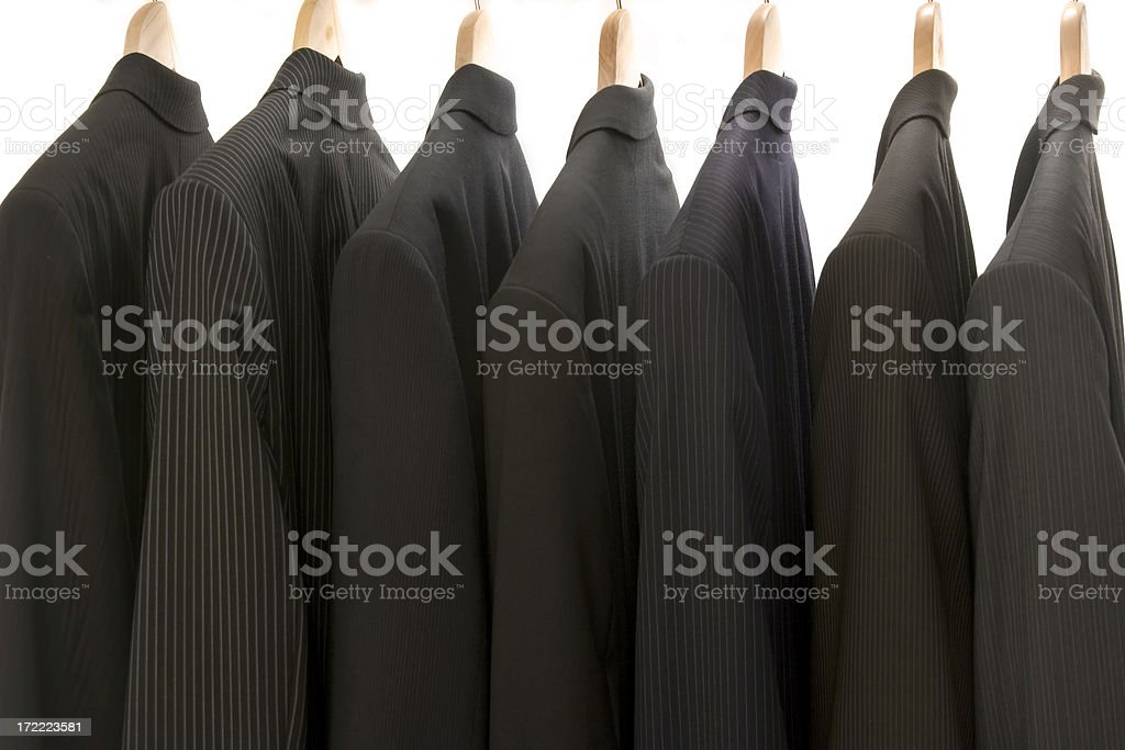 Seven suits royalty-free stock photo