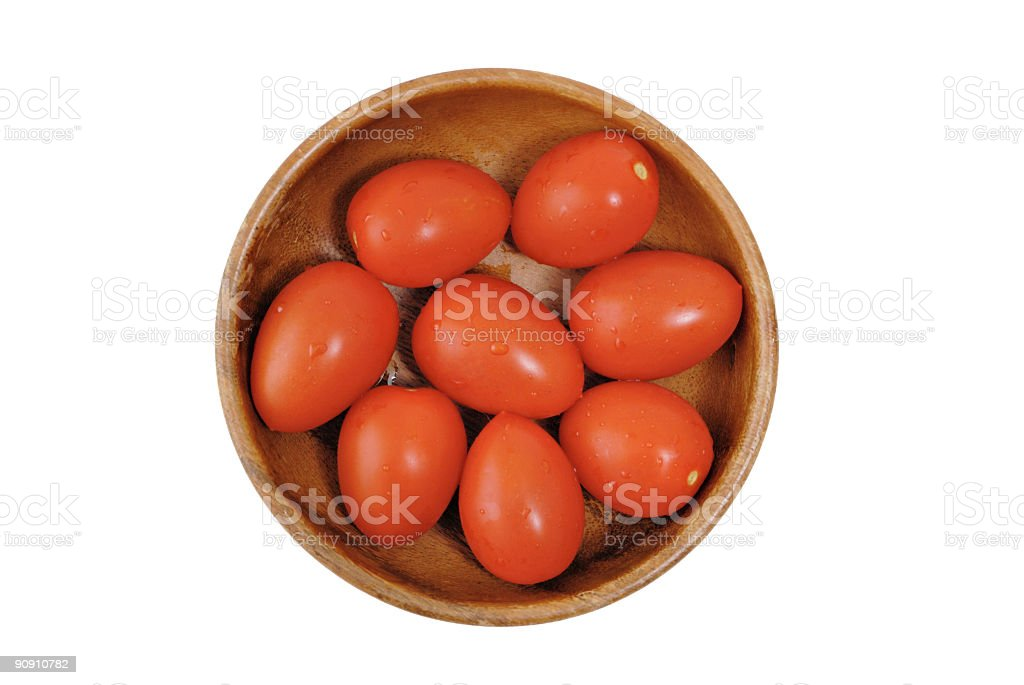 Seven Tomatoes royalty-free stock photo
