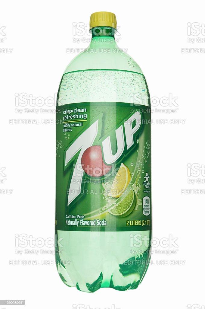 Seven Up soda stock photo