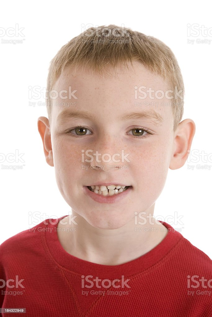 Seven Year Old Boy stock photo