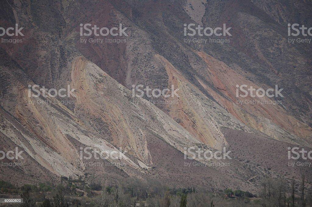 Siedem-mountain-kolory, Północna Argentyna zbiór zdjęć royalty-free