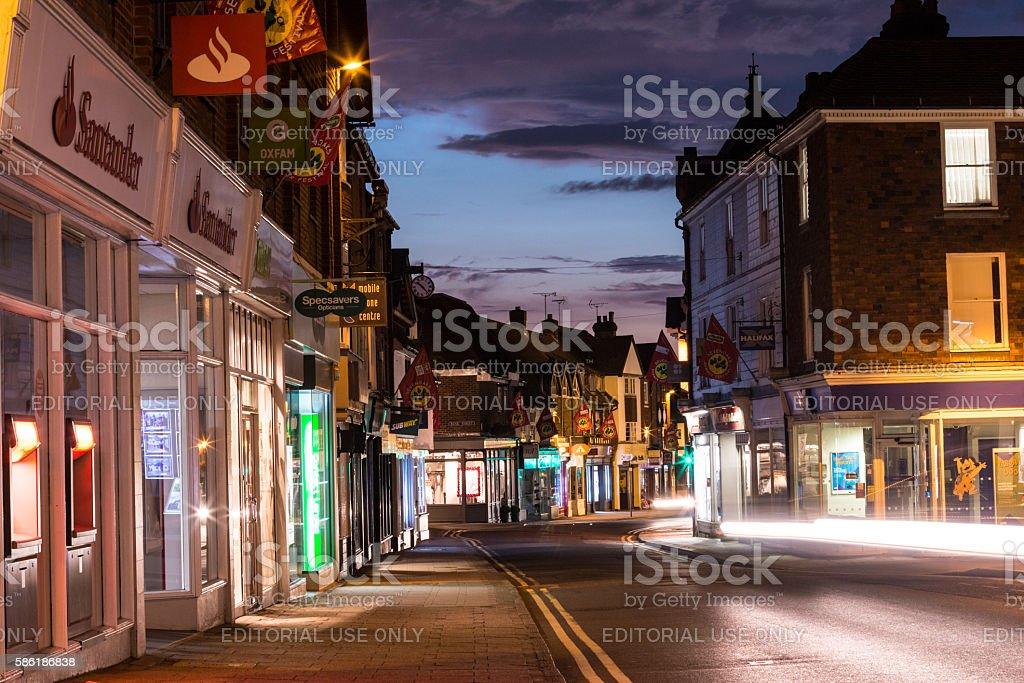 Sevenoaks in Kent, England stock photo