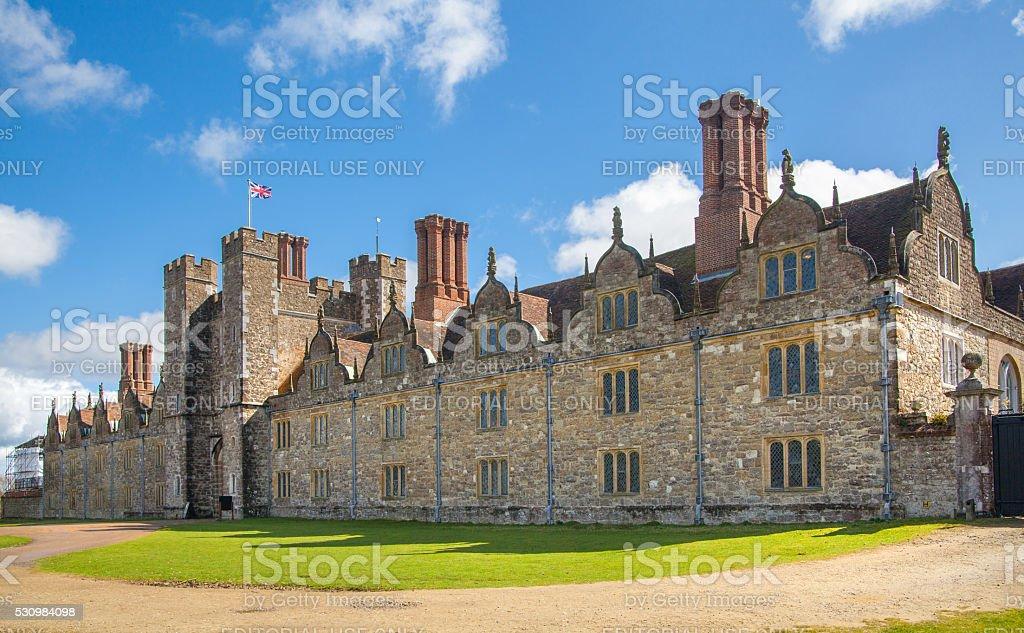 Sevenoaks Old english mansion 15th century, UK stock photo