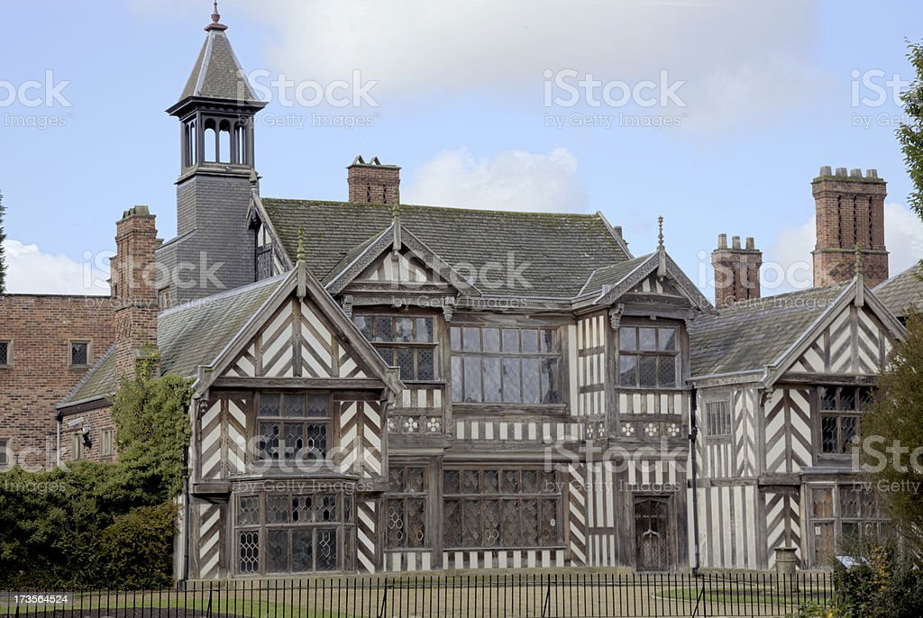 Seventeenth Century English Stately Home-More architectural exteriors below. stock photo