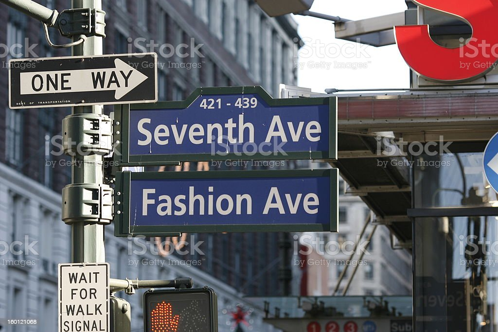 Seventh and Fashion Ave stock photo