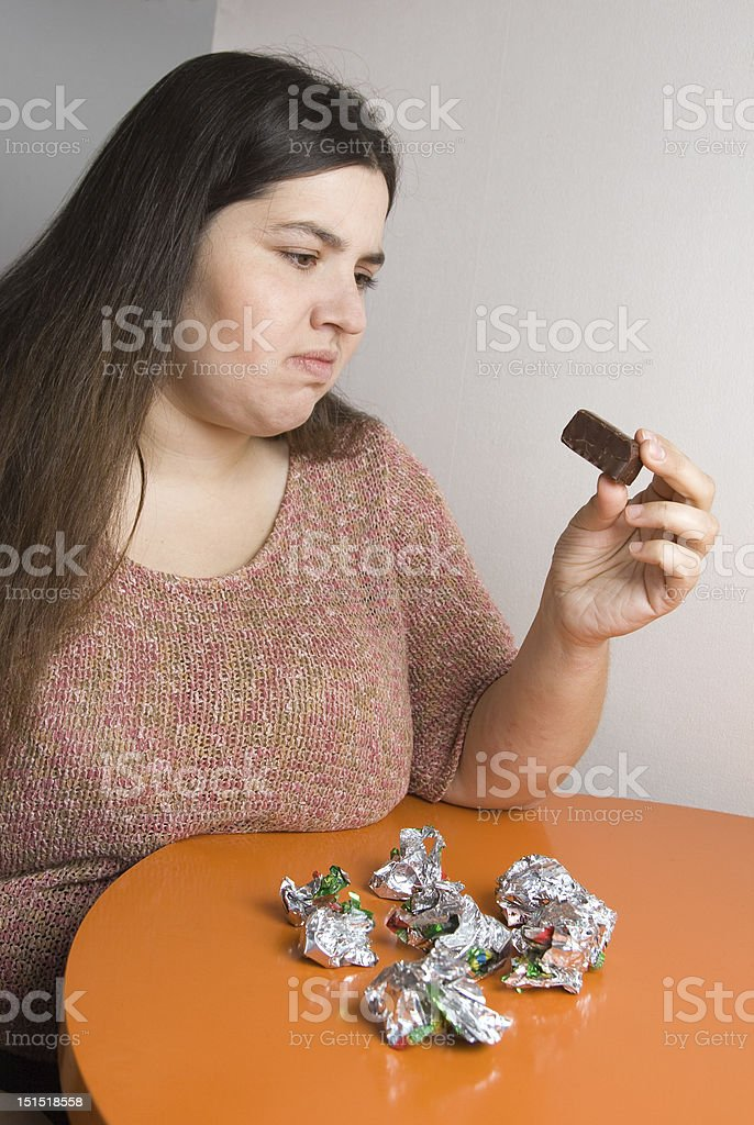 Seventh chocolate royalty-free stock photo