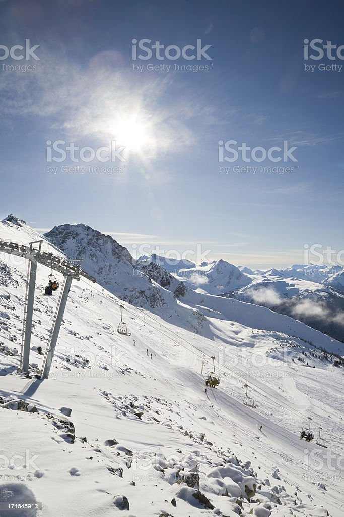 Seventh Heaven Chair on Blackcomb royalty-free stock photo