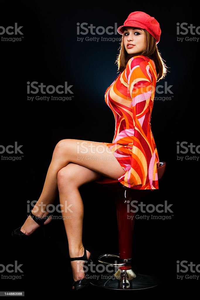 Seventies attire royalty-free stock photo