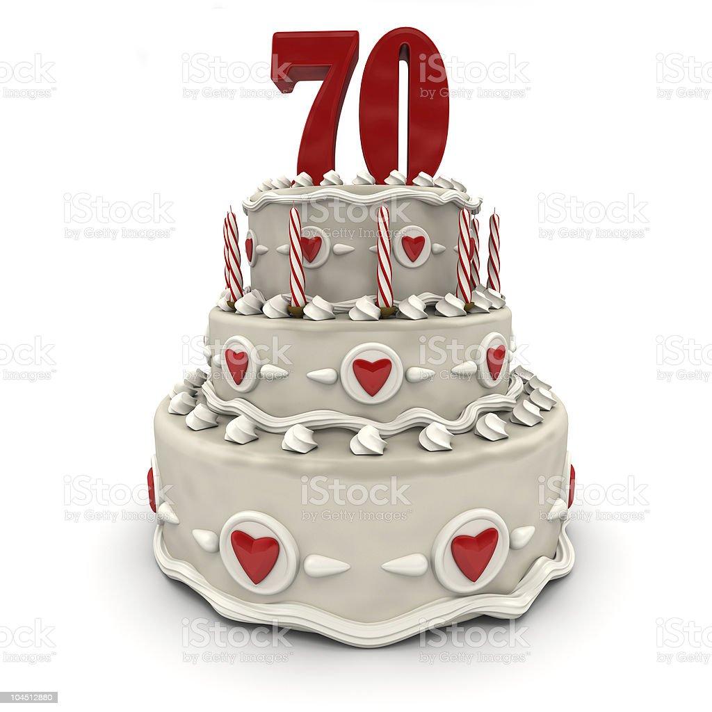Seventieth anniversary royalty-free stock photo