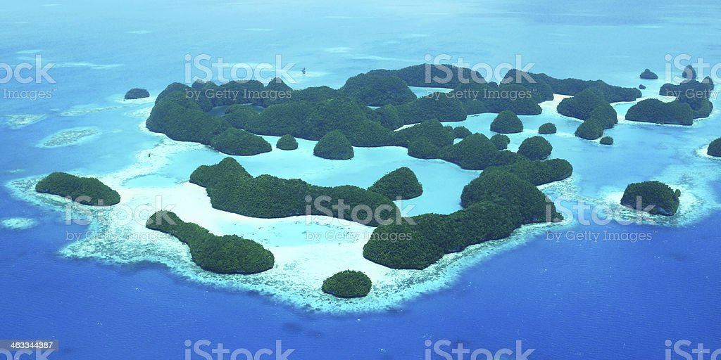 Seventy Islands in Palau stock photo