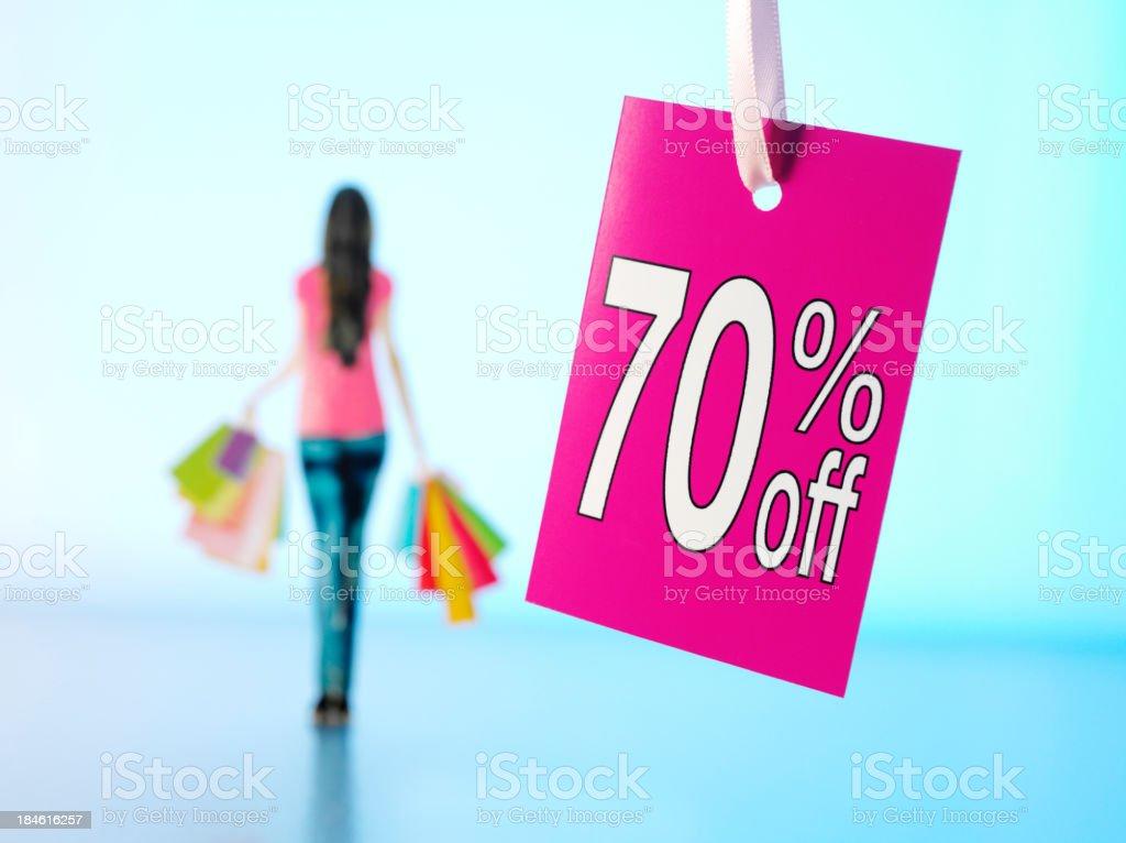 Seventy Percent Off Shopping royalty-free stock photo