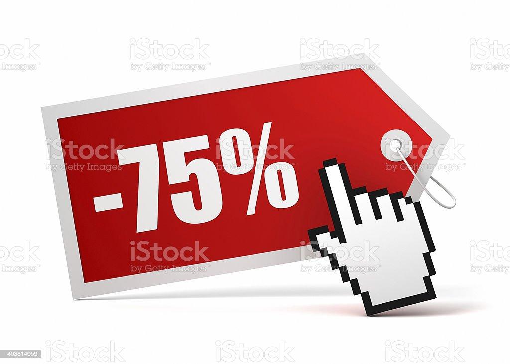 seventyfive percent discount stock photo