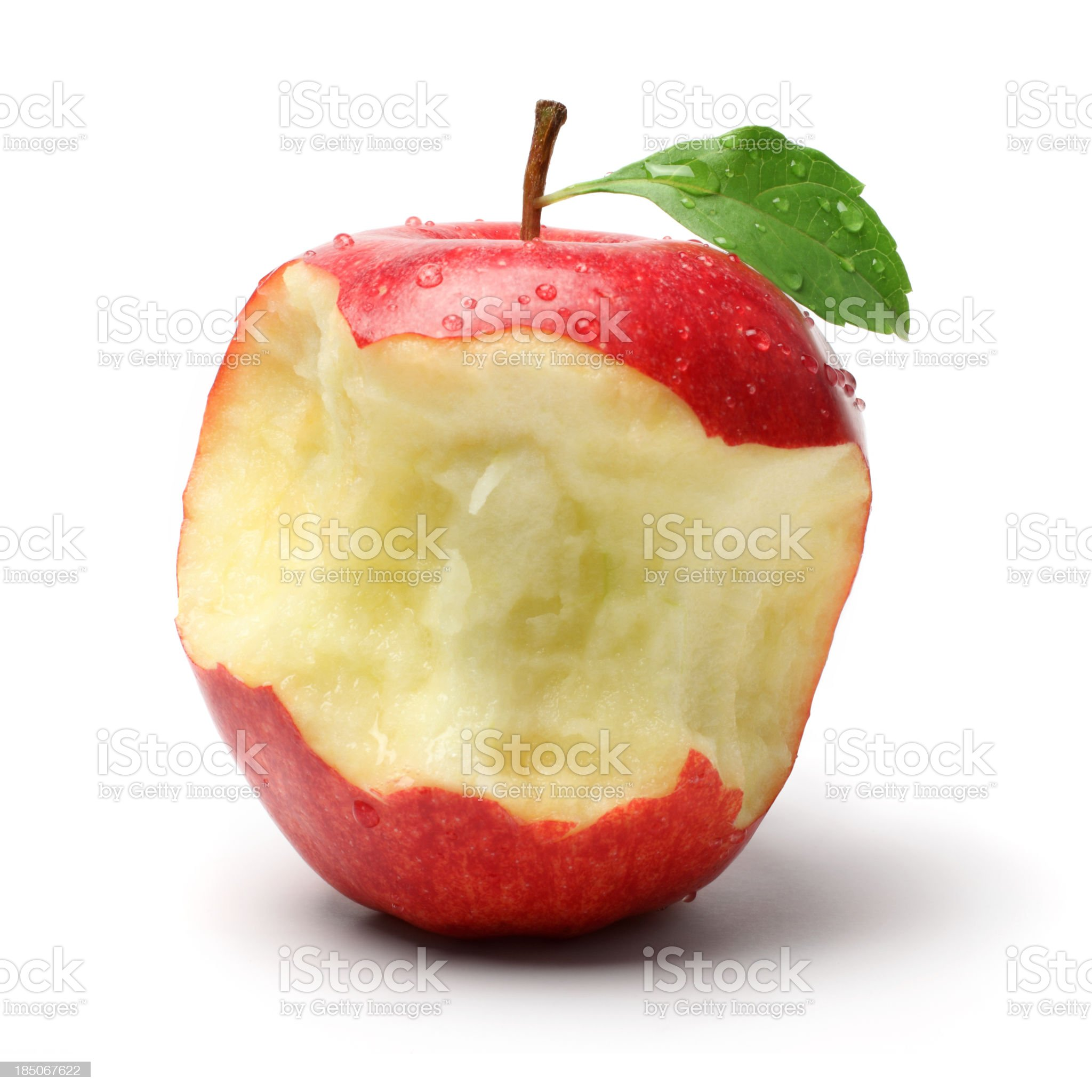 Several Bites on a Red Apple royalty-free stock photo