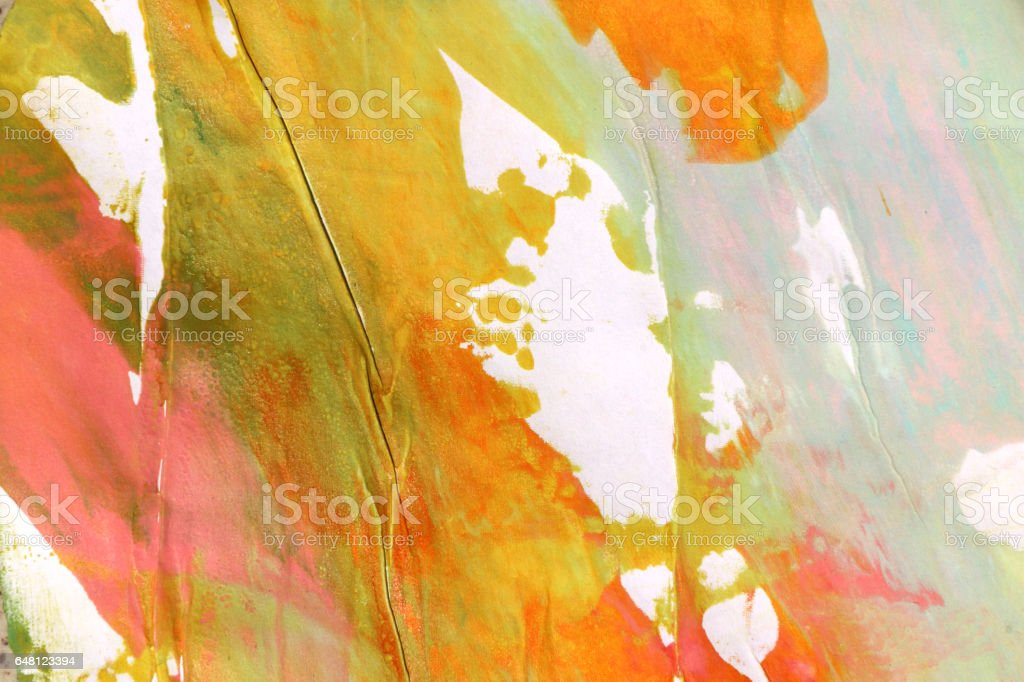 Several colors abstract art background.Silk screen on paper....