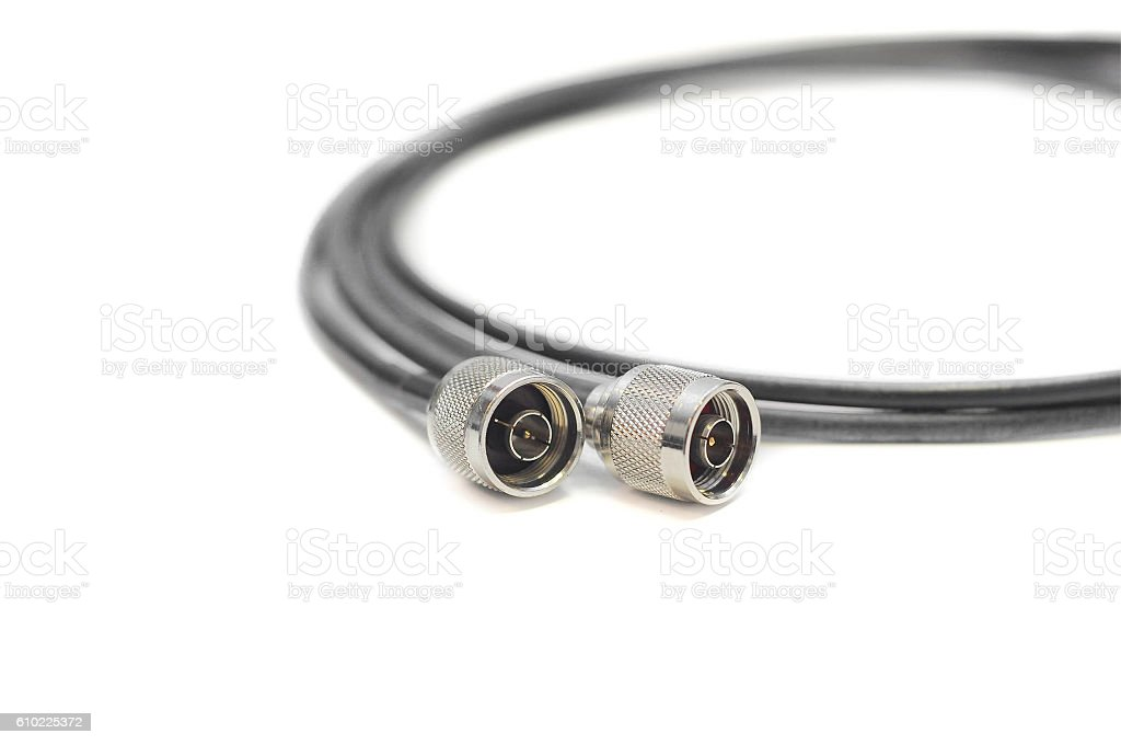 Several connectors for cables. stock photo