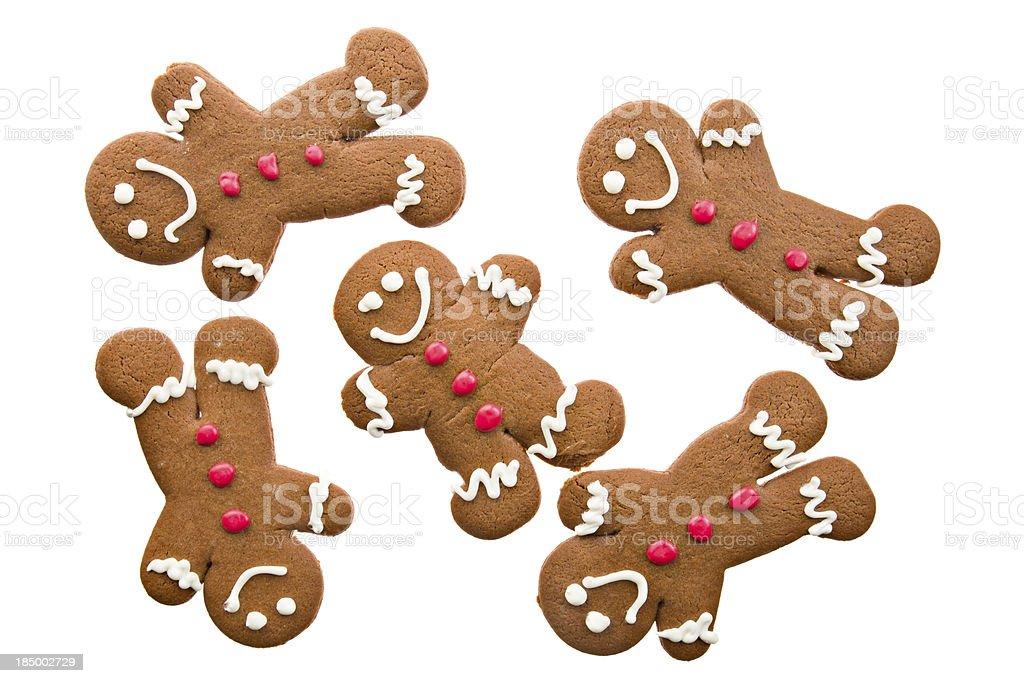 Several Ginger Bread Men stock photo