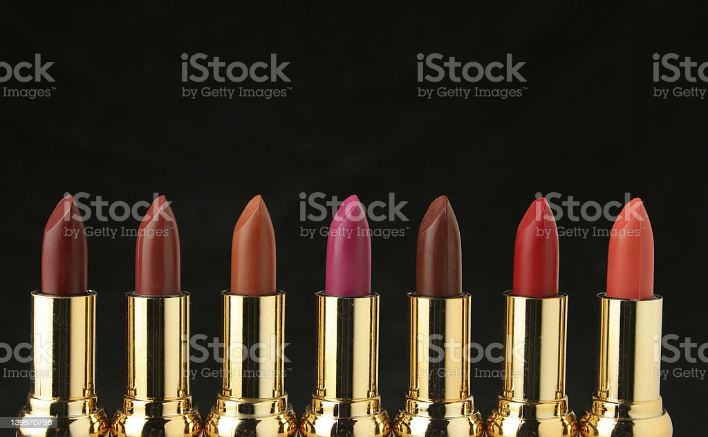 Several lipsticks for make up royalty-free stock photo