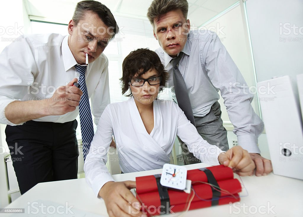Several minutes to explosion royalty-free stock photo