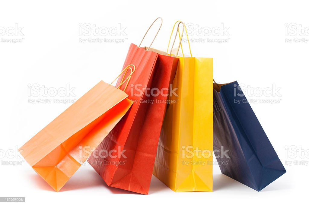 Several Shopping Paper Bags stock photo