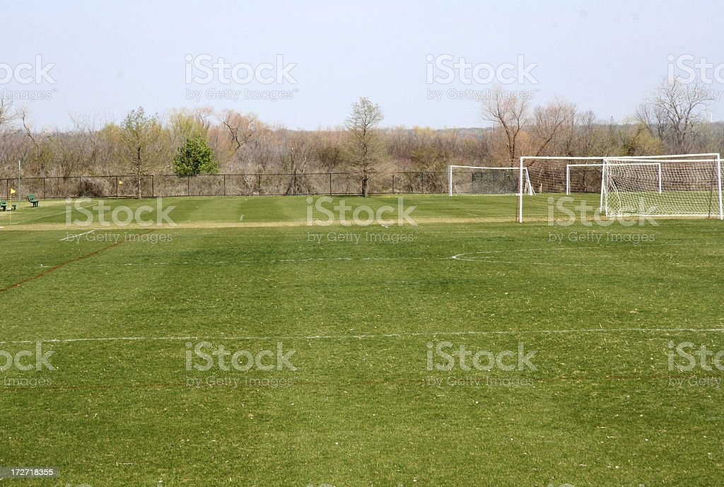 Several Soccer Fields royalty-free stock photo