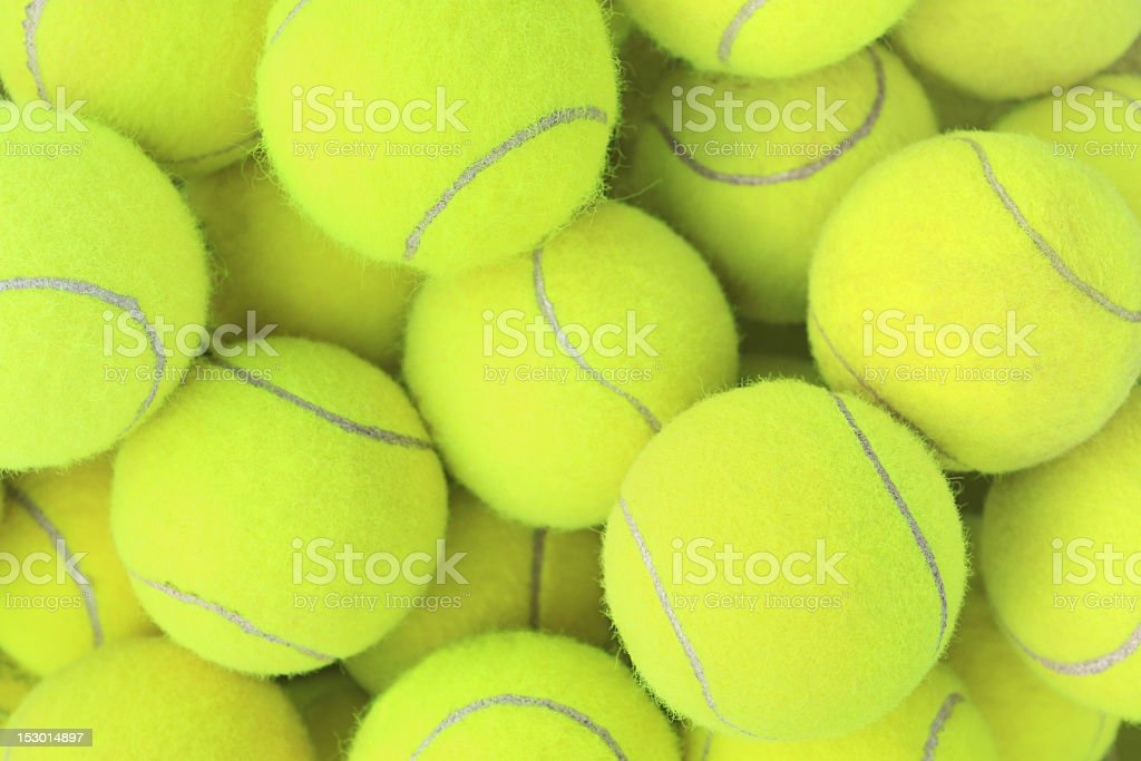 Several tennis balls as a background stock photo