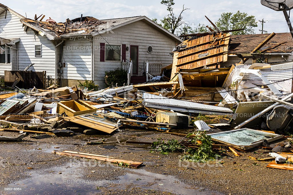 Several tornadoes struck causing millions of dollars in damage 24 photo libre de droits