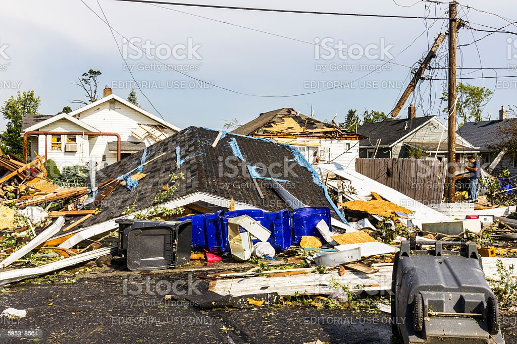 Several tornadoes struck causing millions of dollars in damage 40 photo libre de droits