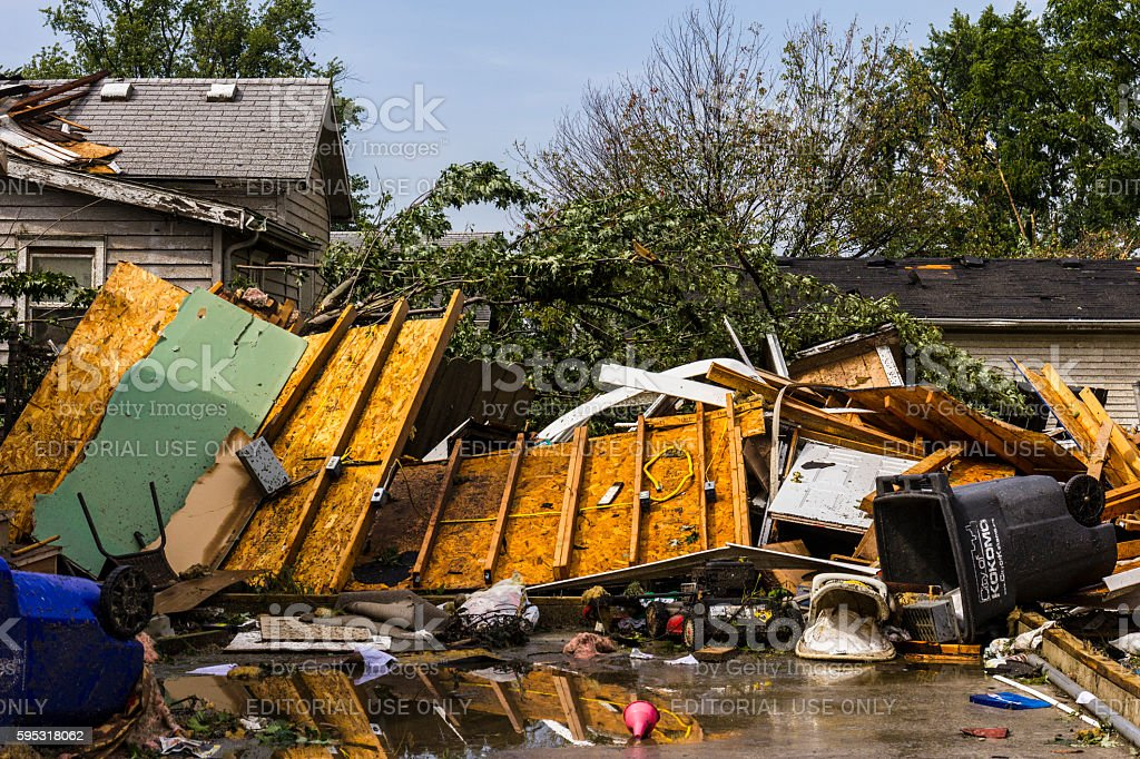 Several tornadoes struck causing millions of dollars in damage 7 photo libre de droits