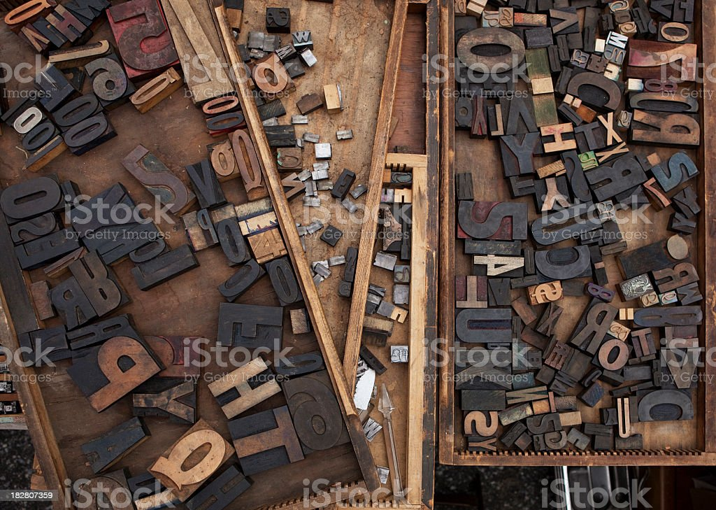 Several Wooden Boxes stock photo