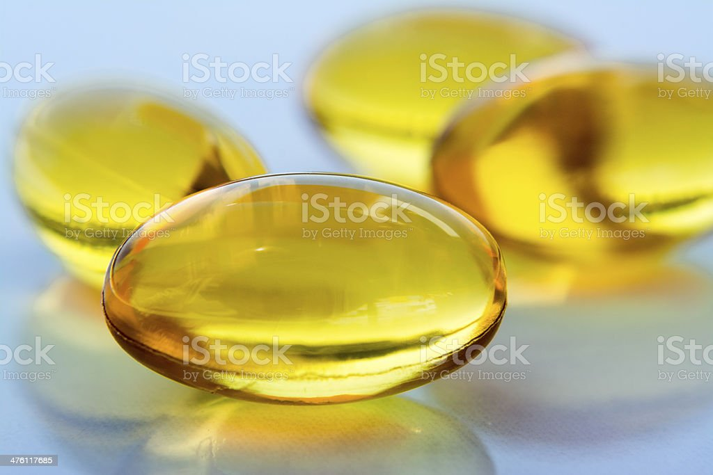 Several Yellow Pills royalty-free stock photo