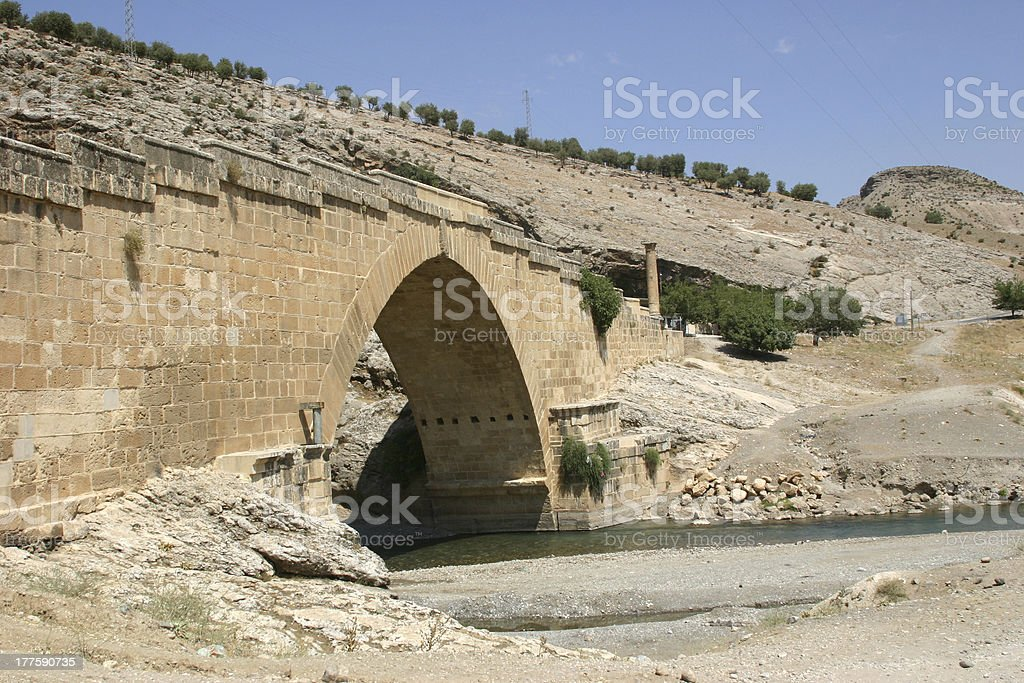 Severan (Cendere) Bridge, Turkey stock photo