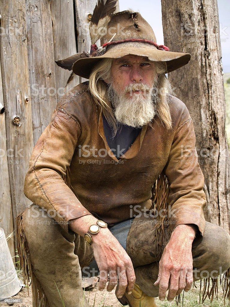 Severe cowboy royalty-free stock photo