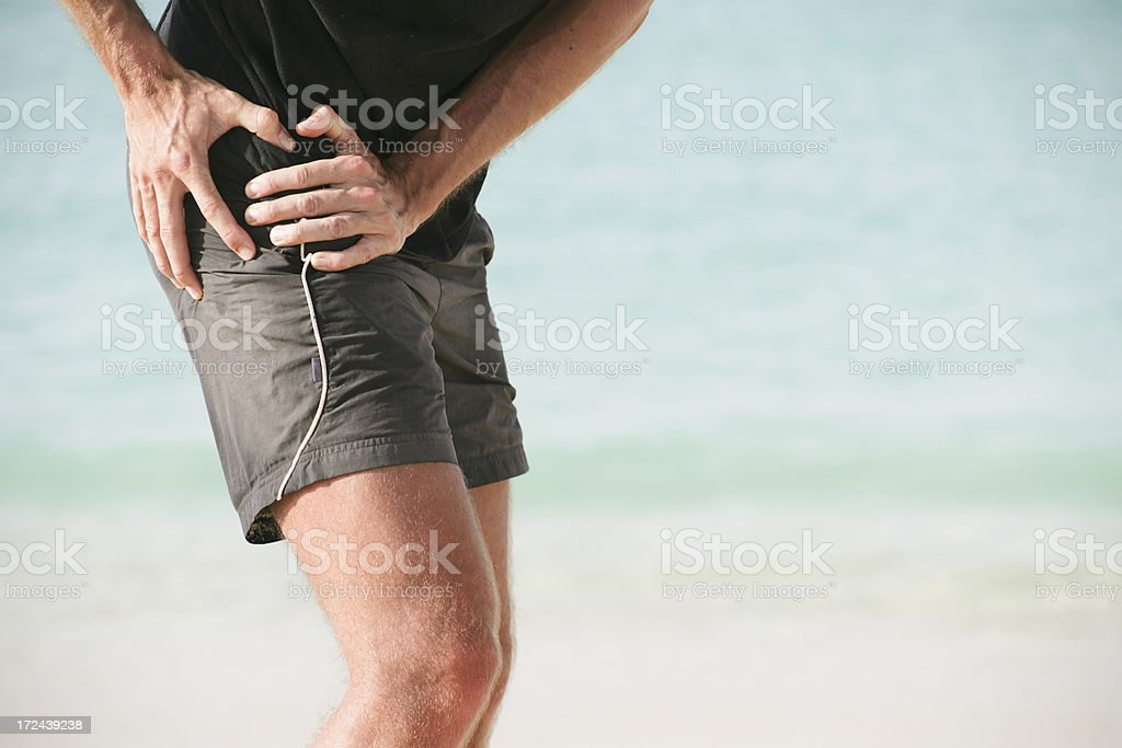 Severe hip pain stock photo