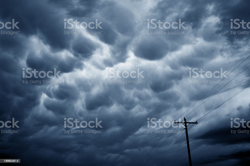 Severe storm clouds royalty-free stock photo