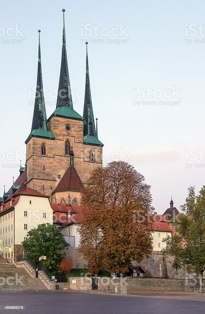 Severikirche in Erfurt, Germany stock photo