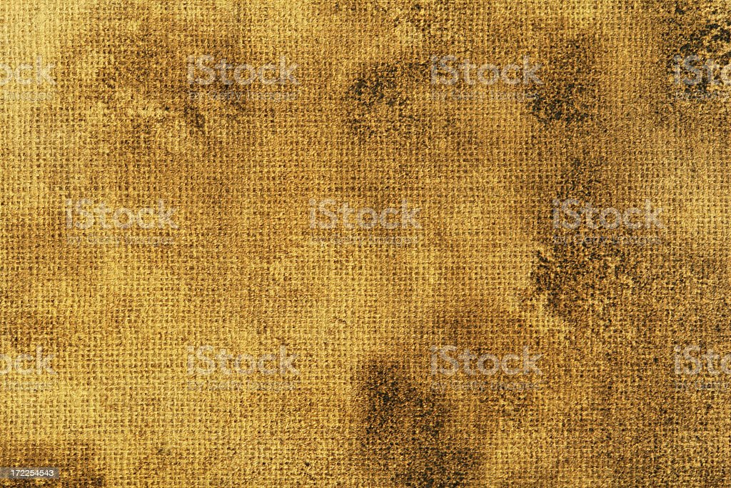 Severly stained brown canvas surface royalty-free stock photo