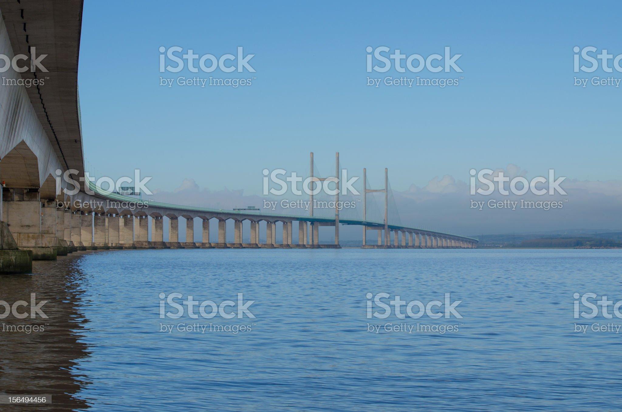 severn bridge royalty-free stock photo