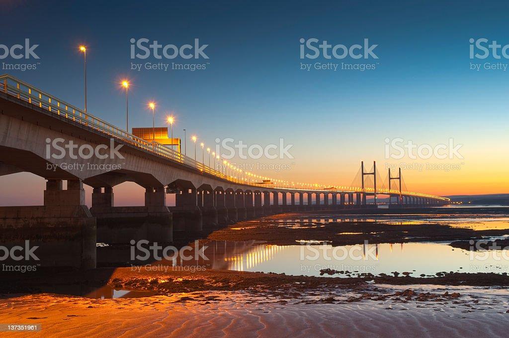 Severn Bridge, UK stock photo