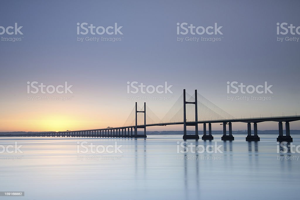 Severn Crossing bridge royalty-free stock photo