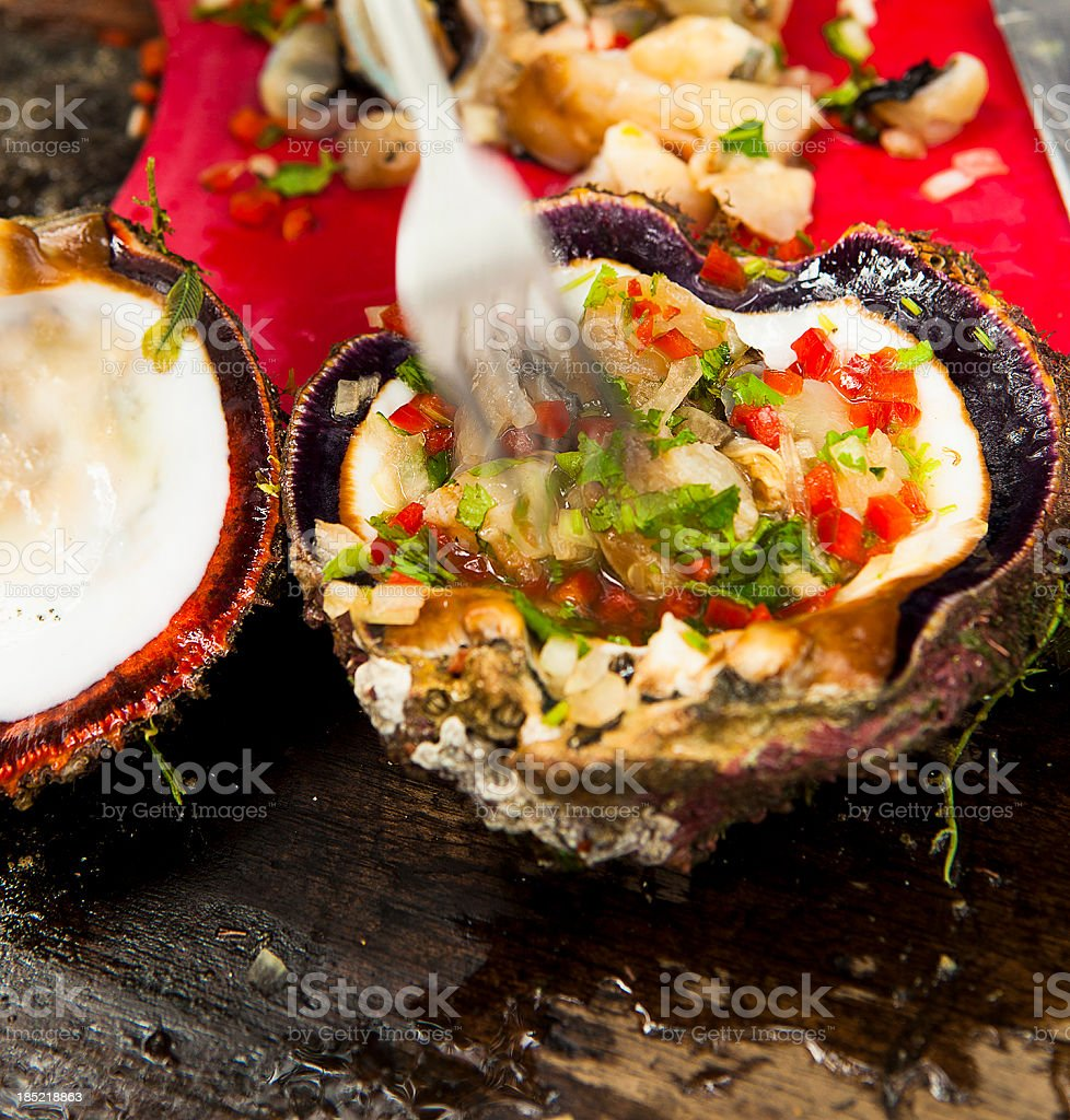 Oyster Ceviche stock photo