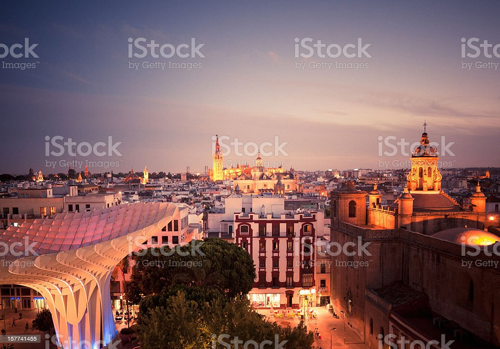 Sevilla at Twilight royalty-free stock photo