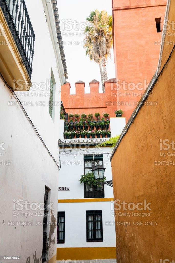Sevilla (Andalucia, Spain): Barrio Santa Cruz stock photo