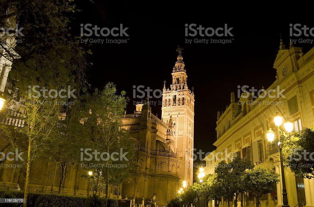 Sevilla Cathedral and Giralda, Spain royalty-free stock photo