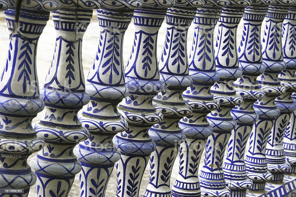 Sevilla, colonnade in Palza de Espana royalty-free stock photo