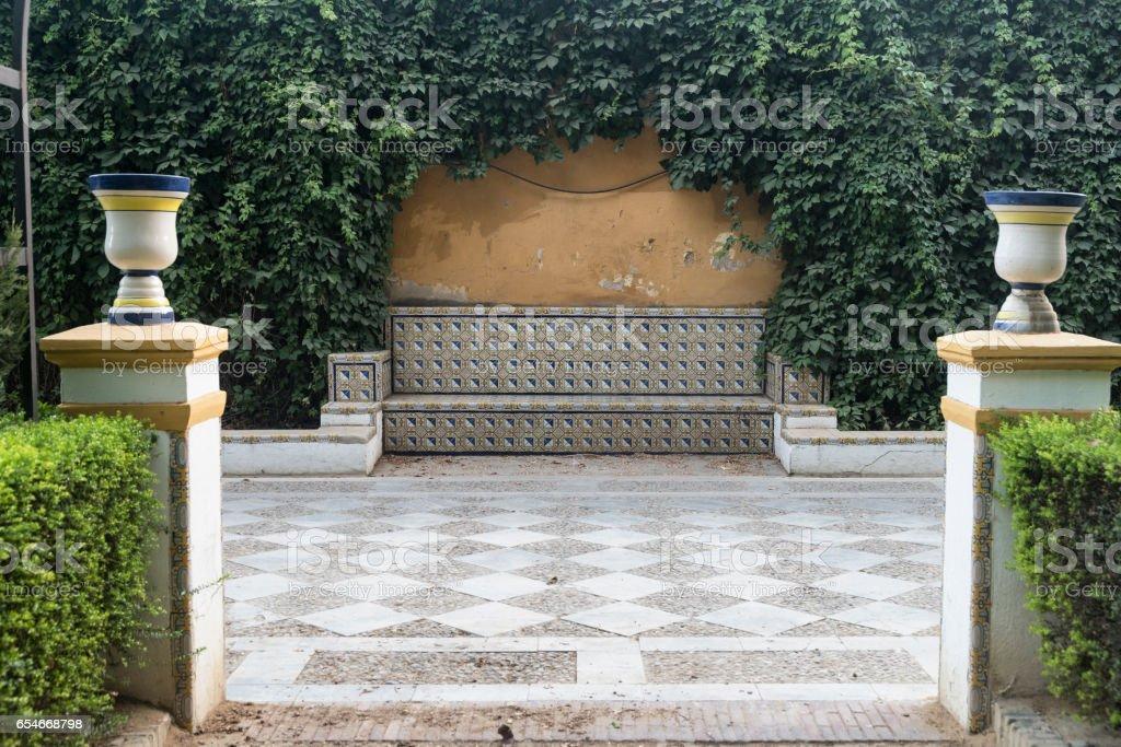 Sevilla (Andalucia, Spain): park stock photo
