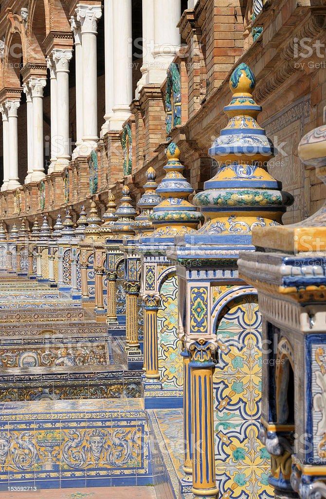 Sevilla  Plaza de Espana Details royalty-free stock photo