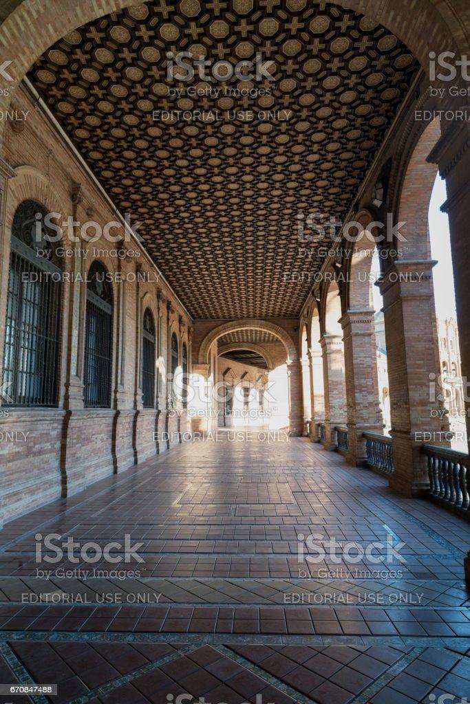 Sevilla (Andalucia, Spain): Plaza de Espana stock photo