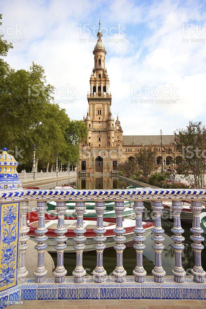 Sevilla, Plaza de Espana - Spain royalty-free stock photo