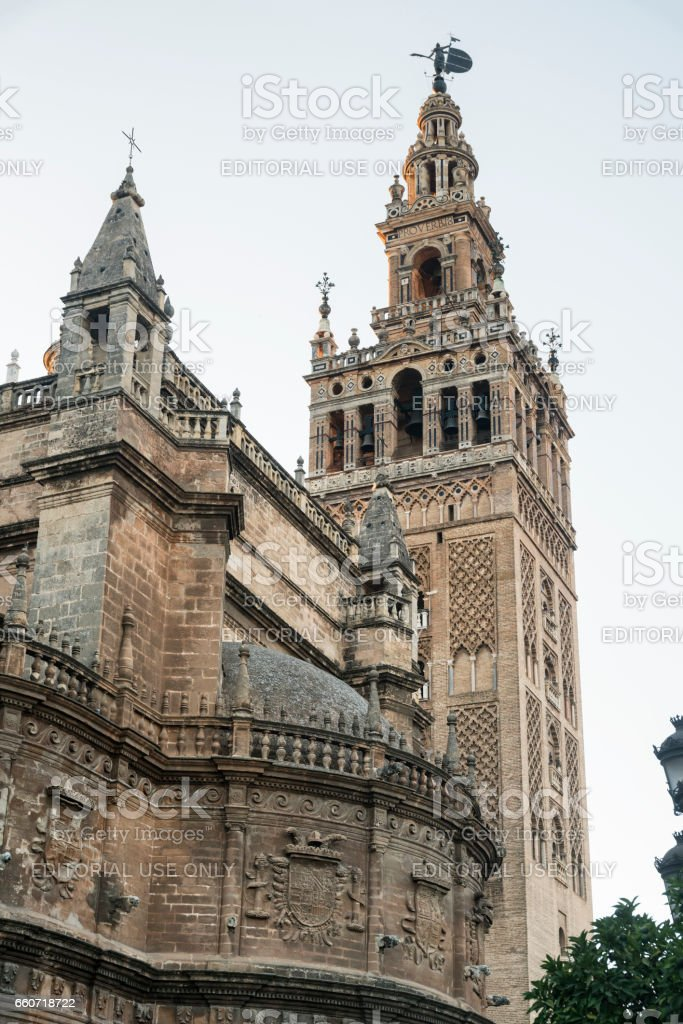 Sevilla (Andalucia, Spain): the cathedral stock photo