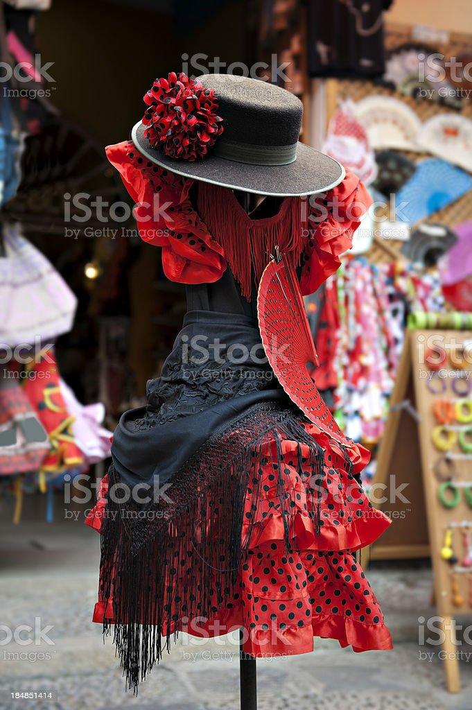 Sevillana dress stock photo